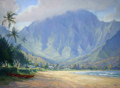 Hawaii Wall Art - Painting - Hanalei Bay Morning by Jenifer Prince