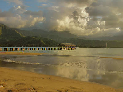 Hanalei Bay Reflections Art Print by Stephen  Vecchiotti