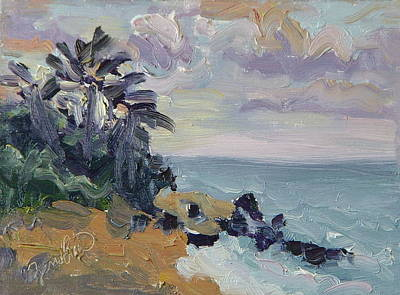 Painting - Hanalei Bay Sunset Kauai Hawaii by Zanobia Shalks