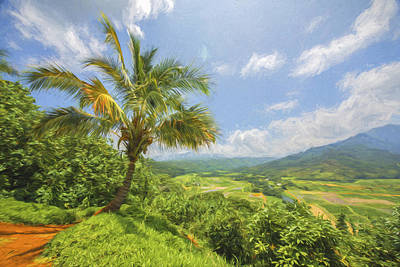 Digital Art - Hanalei Overlook II by Jon Glaser