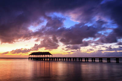 Photograph - Hanalei Pier by James Eddy