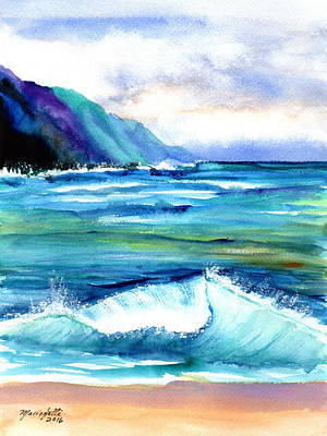 Painting - Hanalei Sea by Marionette Taboniar