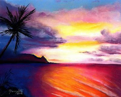 Painting - Hanalei Sunset by Marionette Taboniar