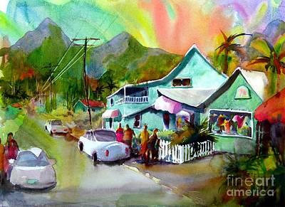 Hanalei Painting - Hanalei Town by Jerri Grindle