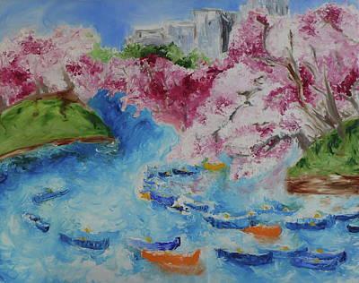 Wall Art - Painting - Hanami by Tessa Lang