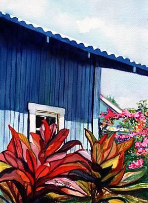 Hanapepe Town Art Print by Marionette Taboniar