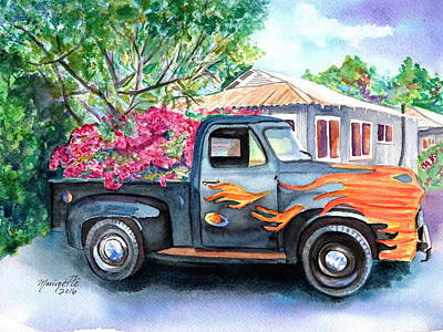 Painting - Hanapepe Truck 2 by Marionette Taboniar