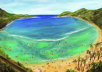 Hanauma Bay Hawaiian #336 Art Print by Donald k Hall