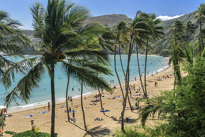 Art Print featuring the photograph Hanauma Bay by Steven Sparks