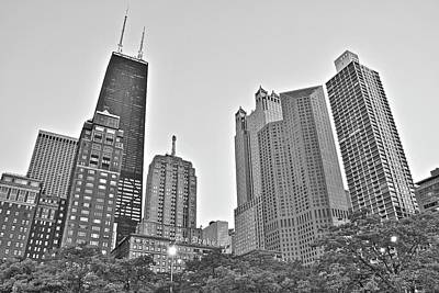 Photograph - Hancock And More In Monochrome by Frozen in Time Fine Art Photography