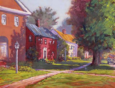 Hancock Village Scene Art Print