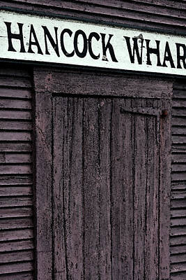 Photograph - Hancock Wharf Watercolor by Mark Alesse