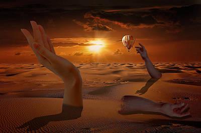 Desert Sunset Mixed Media - Hand Analysis by Solomon Barroa