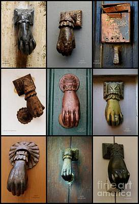 Photograph - Hand Door Knockers by Lainie Wrightson