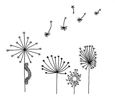 Whimsical Drawings Photograph - Hand Drawn Illustration Sketch Of Caterpillar On Dandelions In W by Matthew Gibson