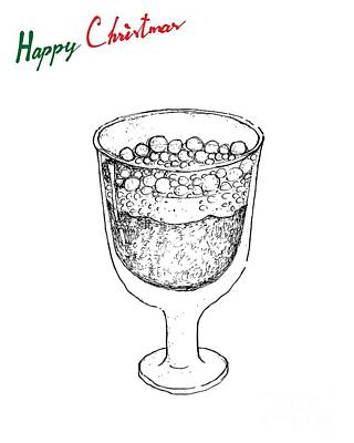 Beer Drawings - Hand Drawn of Traditional Swedish Christmas Drink Julmust  by Iam Nee