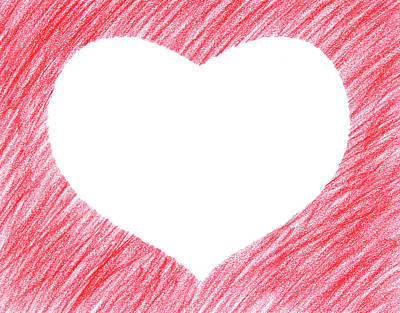 Drawing Drawing - Hand-drawn Red Heart Shape by GoodMood Art