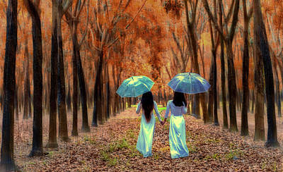 Photograph - Hand In Hand - Sisters by Pixabay