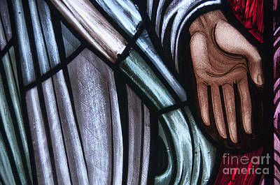 Photograph - Hand In Stained Glass by David Arment