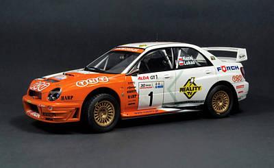 Subaru Impreza Photograph - Hand Made Model Subaru Impreza Wrc 2001 Scale 1 24 by Paul Fearn