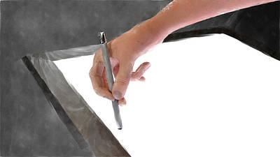 Hand Of An Artist Art Print by Michael Mills