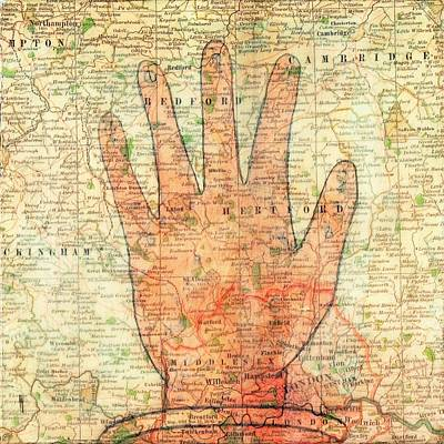Mixed Media - Hand On Map by Judy Tolley