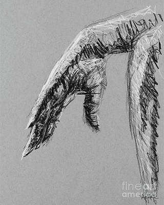 Affordable Drawing - Hand Over Knee by Robert Yaeger