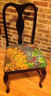 Painting - Hand-painted Chair by Meldra Driscoll