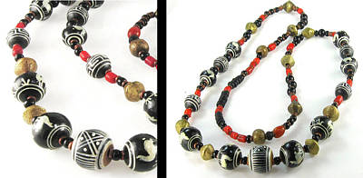 Jewelry - Hand-painted Peruvian Beaded Necklace by Vagabond Folk Art - Virginia Vivier