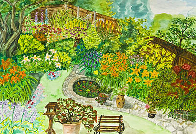 Painting - Hand Painted Picture, Garden by Irina Afonskaya