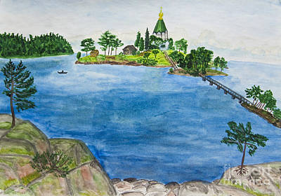 Painting - Hand Painted Picture, Valaam Island, Russia by Irina Afonskaya