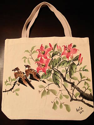 Hand-painted Tote Bag Art Print by Anita Lau