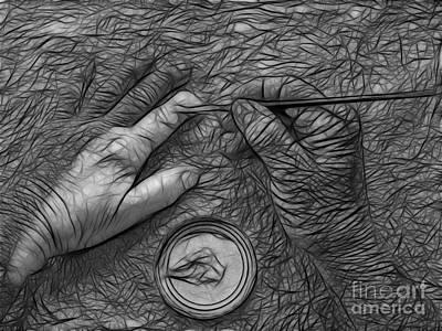 Hand Painting Art Print