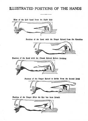 Photograph - Hand Positions For Piano by rd Erickson