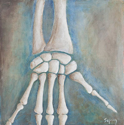 Osteopath Painting - Hand by Sara Young