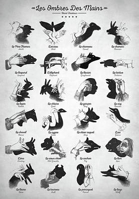 Digital Art - Hand Shadows by Zapista Zapista