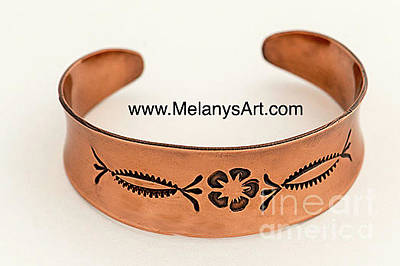 Jewelry - Hand Stamped Copper Cuff  by Melany Sarafis
