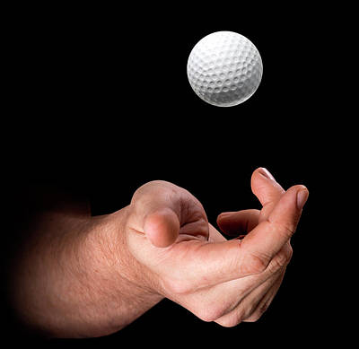 Hand Tossing Golf Ball Art Print