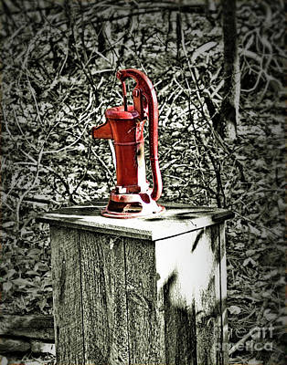 Photograph - Hand Water Well Pump by Smilin Eyes  Treasures