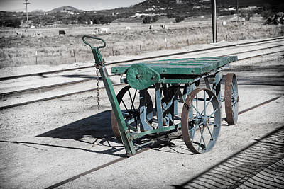 Photograph - Handcart by Peter Dyke