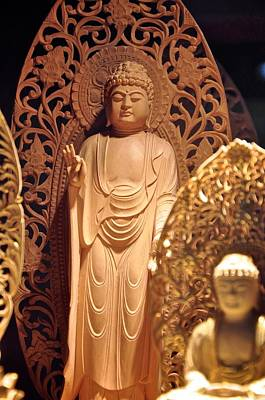 Photograph - Handcarved Buddha by Matt MacMillan