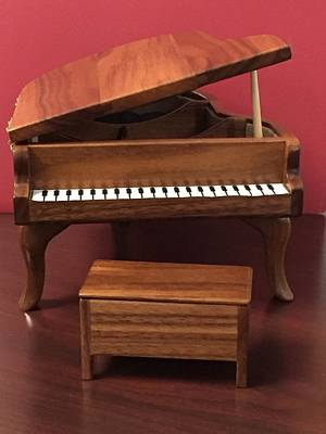Handcrafted Jewelry Sculpture - Handcrafter Baby Grand Piano by Neva Ertl