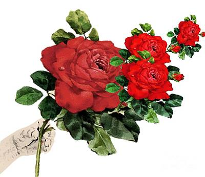 Painting - Handful Of Roses by Belinda Threeths