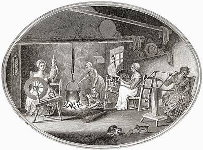 Reel Drawing - Handicrafts In The 18th And 19th by Vintage Design Pics