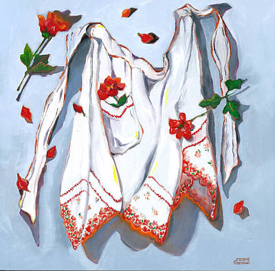 Painting - Handkerchief Apron by Susan Thomas