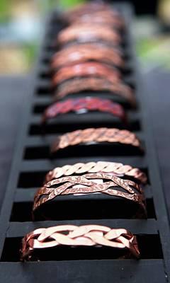 Copper Bracelet Photograph - Handmade  by Amanda St Germain