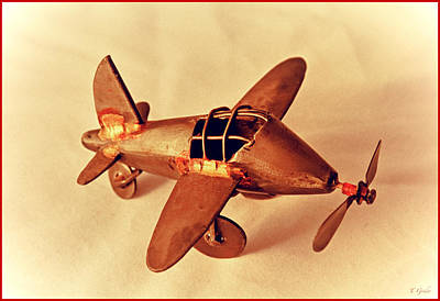 Photograph - Handmade Metal Toy Plane by Tony Grider