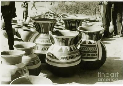 Photograph - Handmade Pottery On The Market by Yali Shi