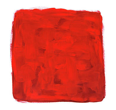 Red Painting - Handmade Vibrant Abstract Oil Painting by GoodMood Art