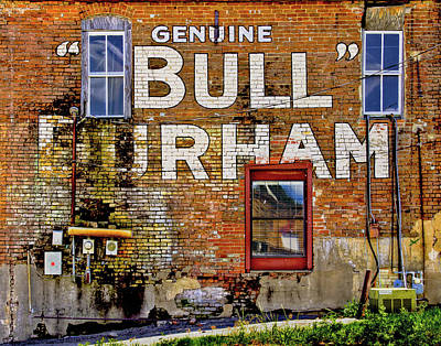Photograph - Handpainted Sign On Brick Wall by David and Carol Kelly